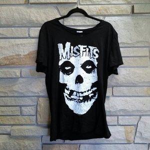 H&M Misfits black graphic band tee tshirt